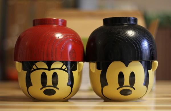 ミッキーマウス&ミニーマウス汁椀・茶碗ペアセット