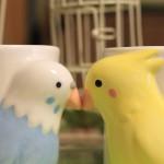 仲良しインコのペアマグカップ